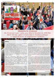 Democratie Syndicale : Election de la direction du SNES-FSU (...)
