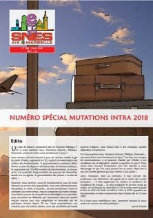 Journal Académique n°386 - Mutation intra-académique 2018
